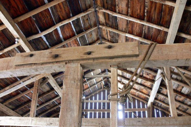 Inside the Ks old barn.....