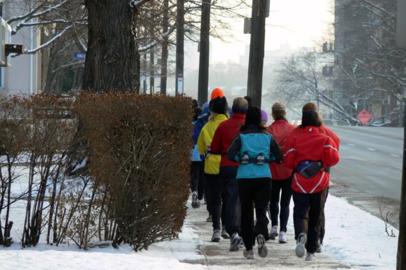 Sunday morning joggers....
