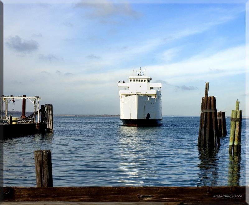 entering port in Port Jefferson