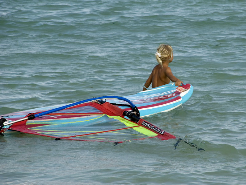 young windsurfer
