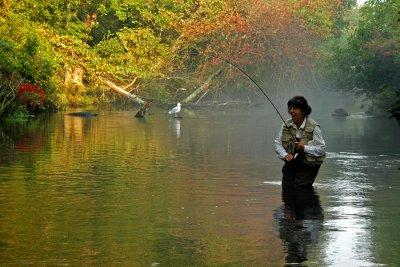 Me, Alida Flyfishing, Photo taken by my husband....