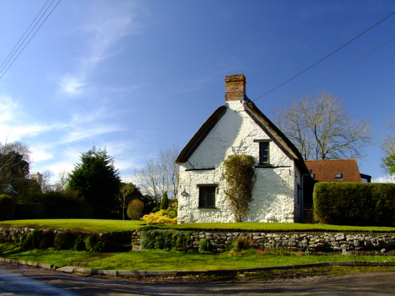 The appropriately named White Cottage.