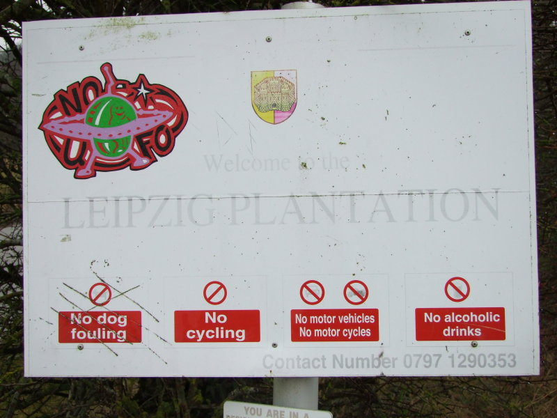 Notice at Roundway Hill.