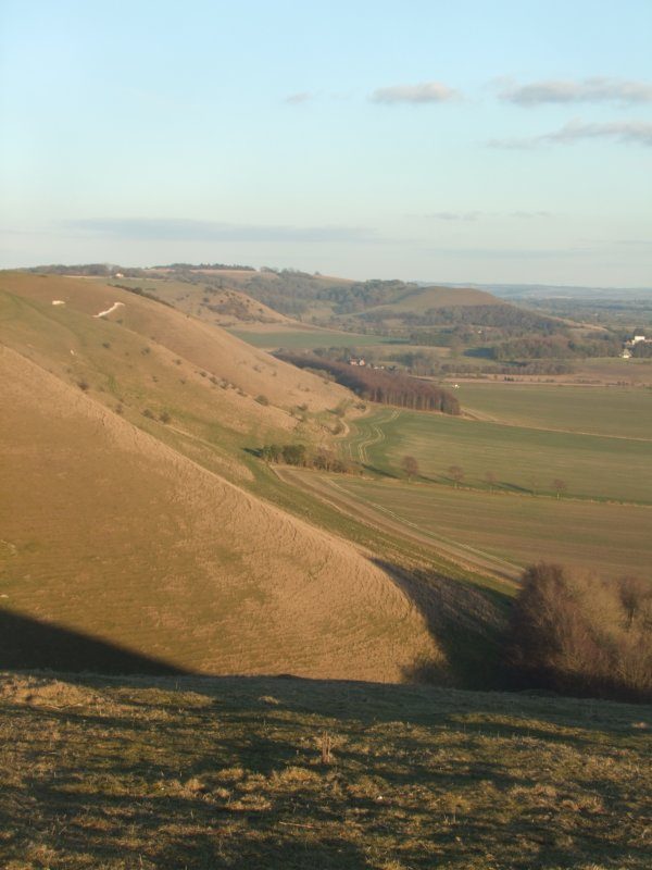 Looking  east  from  Knap  Hill, to  Martinsell  Hill  and  the  Giants  Grave.