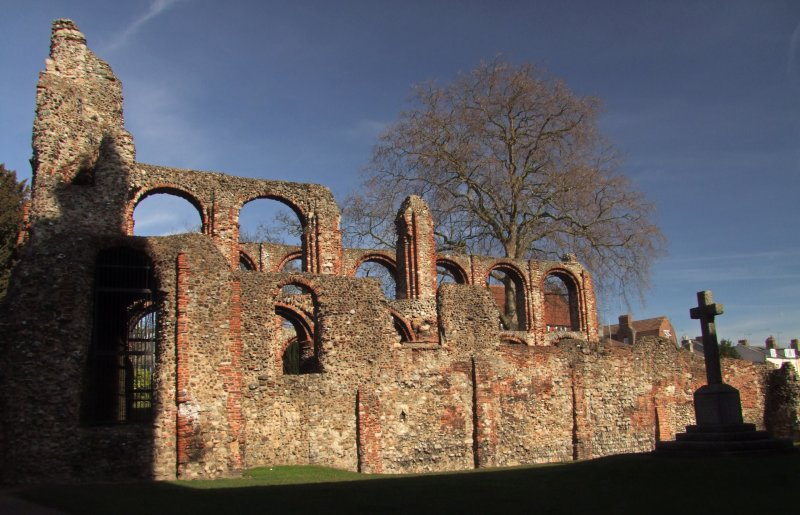 St. Botolphs  Priory  ruins / 1