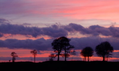 Sunset  from  Olivers  Castle  hillfort / 2