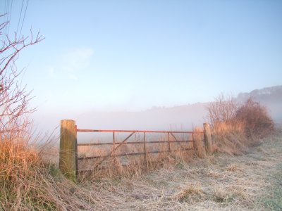 Dawn  on  a  cold  and  frosty  morning.