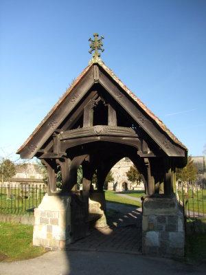 The  lychgate  outside  St. James  church