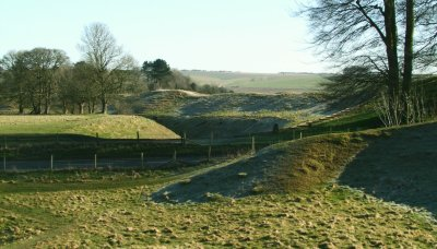 Avebury :banks and ditches.