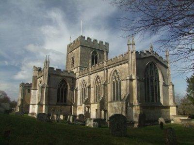 Edington  Priory  Church , looking  west.