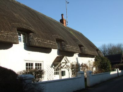 Yet  another, thatched, white  walled  cottage.