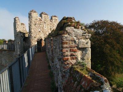 Framlingham Castle,the wall walk,looking East.