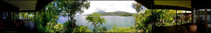 Lembeh Panorama from the hotel room