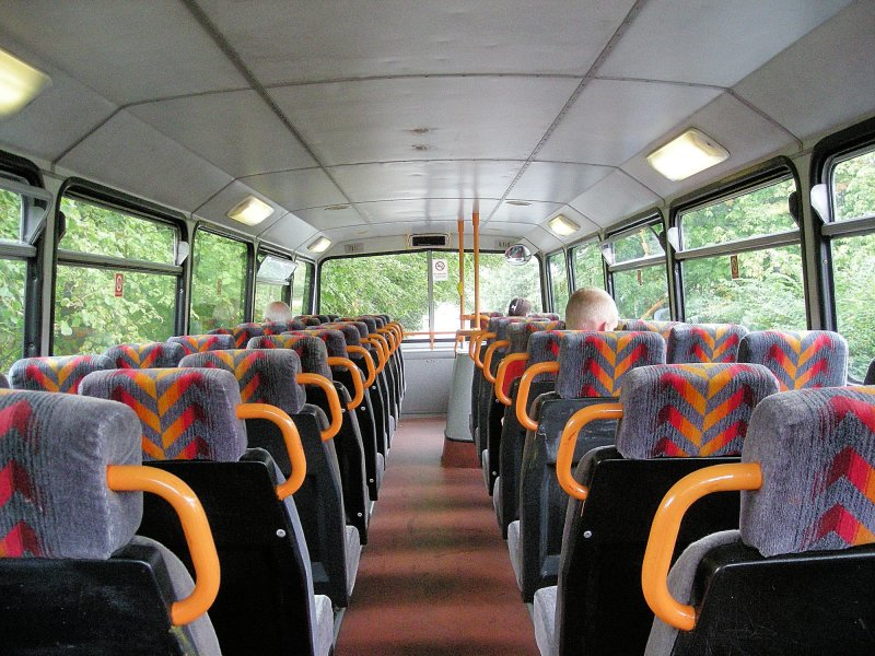 Upstairs on a double decker