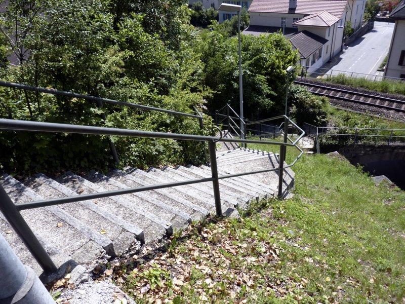 Escaliers entre le Chemin du Clos et la Haute Route