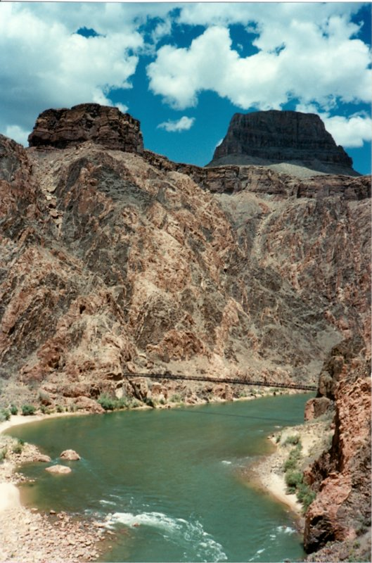 Inner Gorge of the Grand Canyon. River Trail