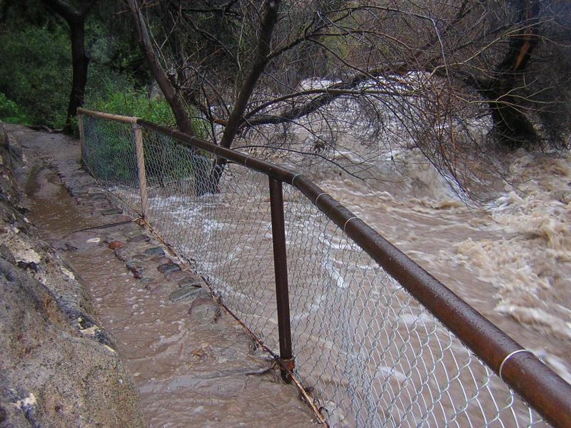 February 12, 2005. 8:19 am. Raging flood in Queen Creek