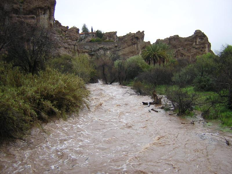 View of Queen Creek from the suspension bridge