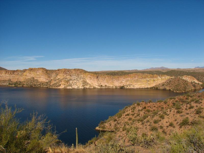 Saguaro Lake. Photo taken by Shirley Knight.