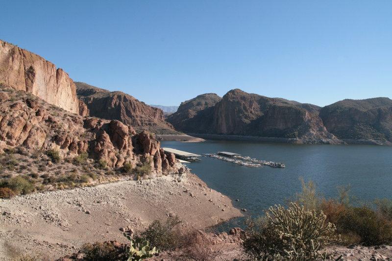 Canyon Lake Marina has been  moved 1.1 miles