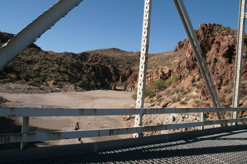 Looking up First Water Canyon from the bridge