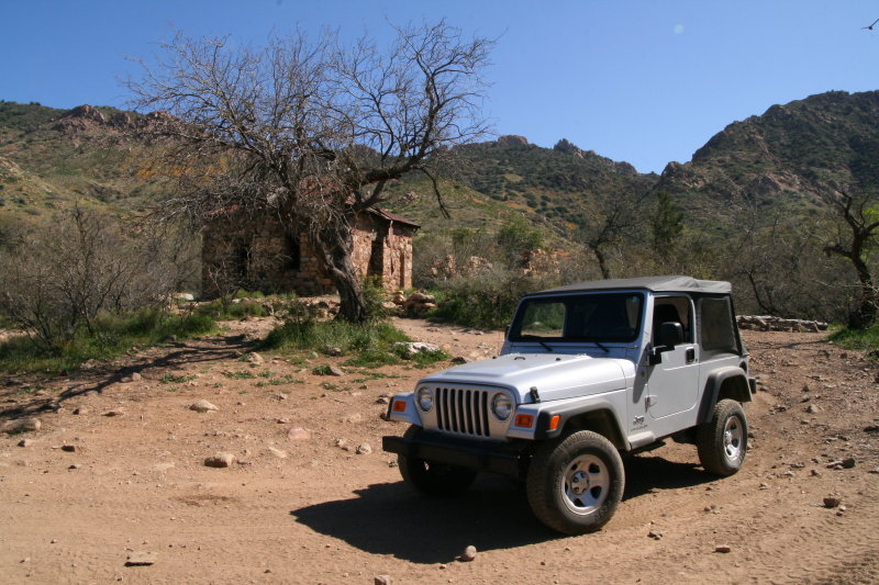 On the way back....Jeep at Rock House