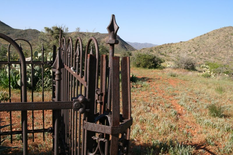 Beautiful, Old Iron Fence at Cemetery