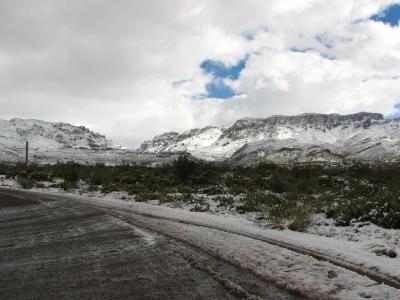Silver King Mine Road. Looking Toward Superior