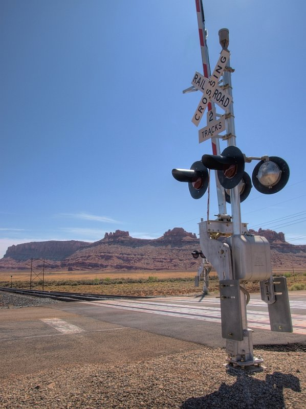 RR crossing road to Dead Horse Point park, UT