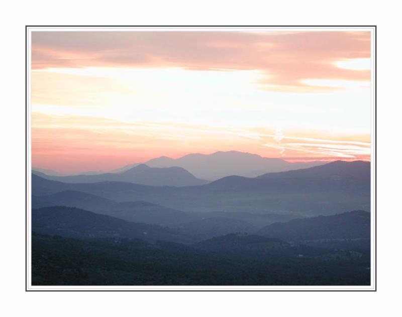 Sunset near Korinth