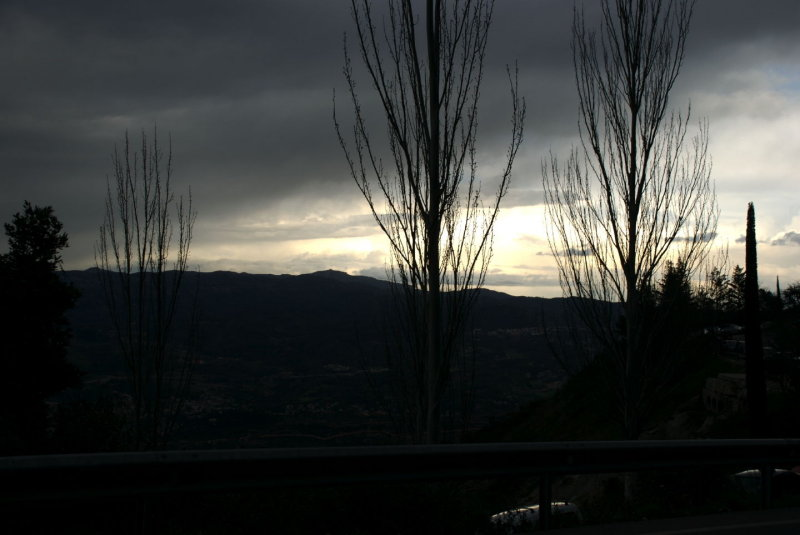 Sunset leaving Montserrat