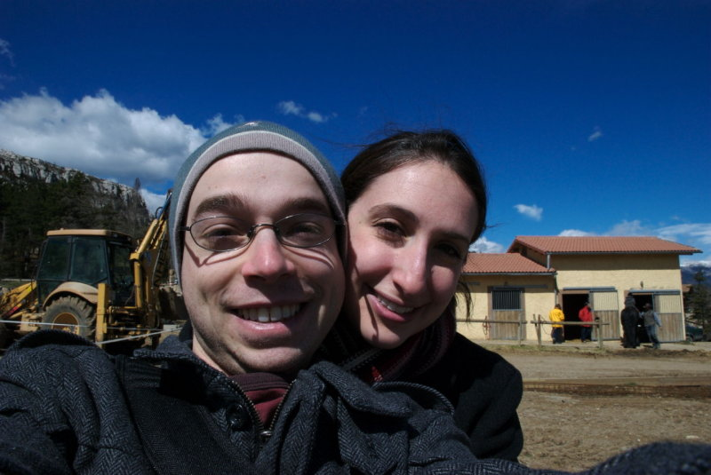me, Francine, practicing my self-photo with the new D80