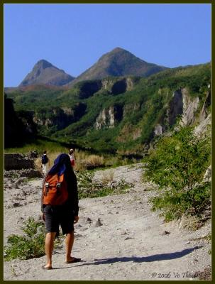 Hiking up Pinatubo