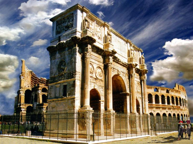 Rome, - Triumph Arc of Emperor Constantine