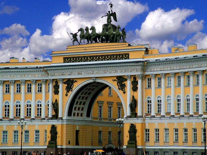 Entrance To Palace Square, St.Petersburg