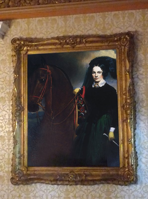 Adelicias portrait with her horse Bucephala (named after Alexander the Greats horse) was painted before she was married.