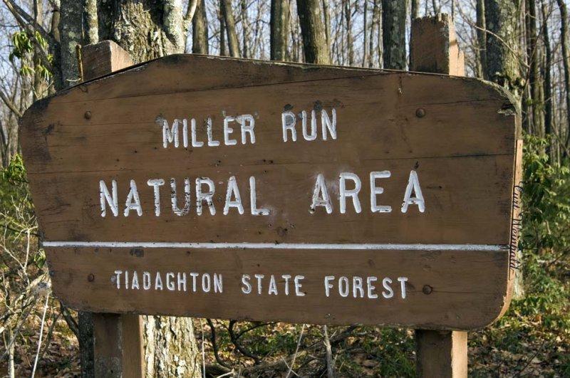 Miller Run sign