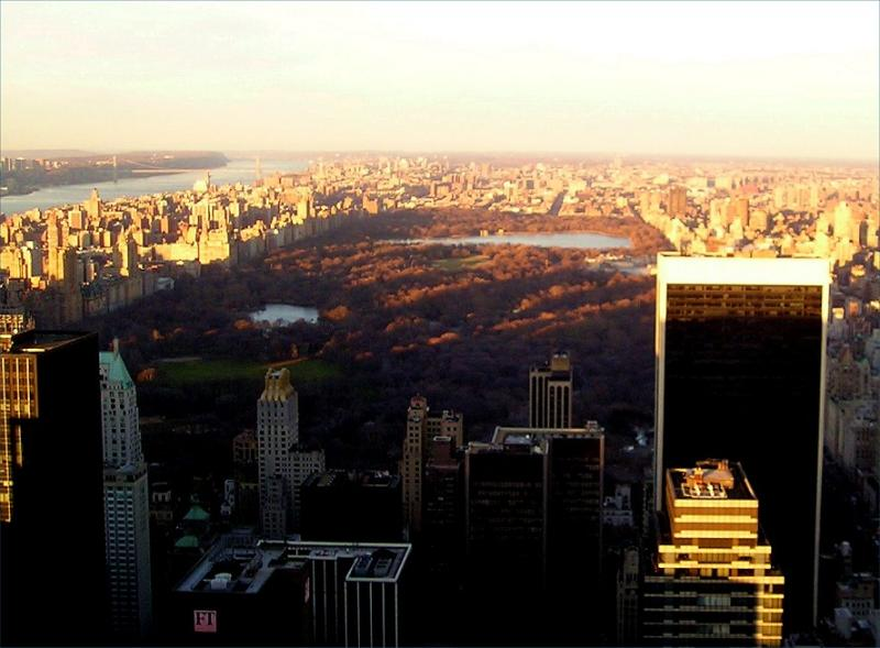 Birds eye view of Central Park