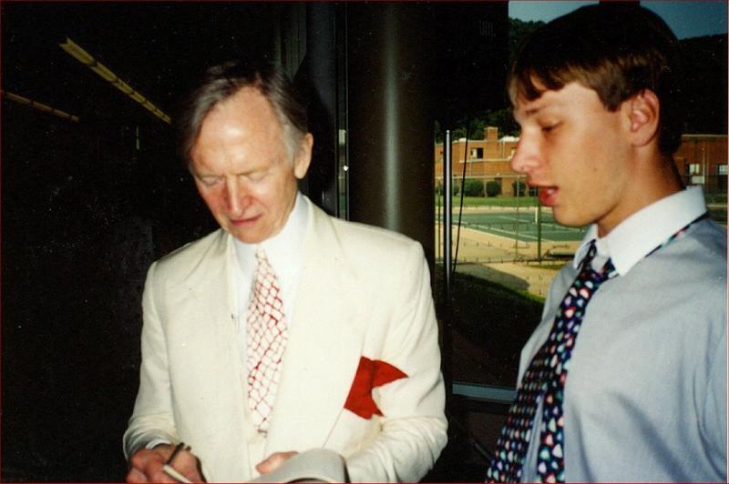 Author Tom Wolfe and Bob Ballard