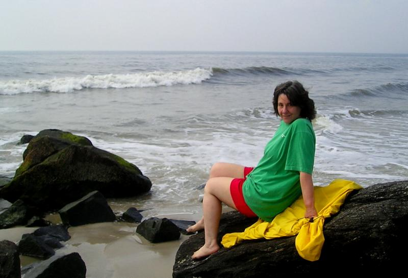 Donna at the beach