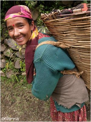 Local lady in Parvati Valley, Northern India.
