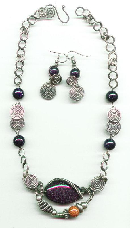Purple Goldstone Collar