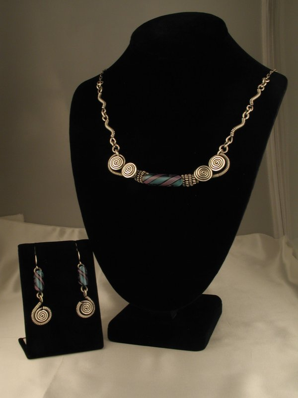 Furnace Bead Collar Necklace Set