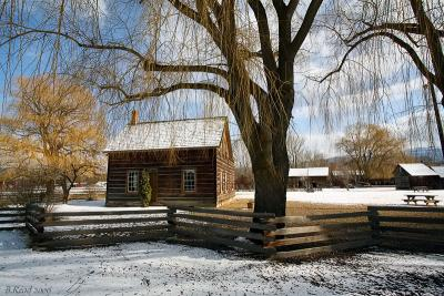 Father Pandosy Mission in Winter