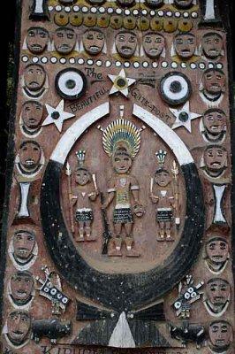Gate of Kigwema Village, home of Angami Naga.