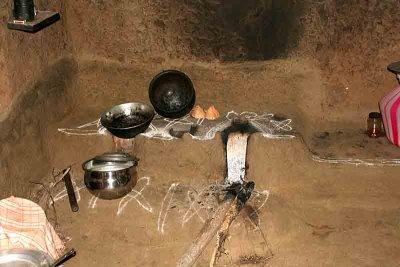 Inside a house in Namana Samudram.