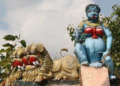Pregnant goddess on the roof of a Kaliamman temple, Tamil Nadu http://www.blurb.com/books/3782738.