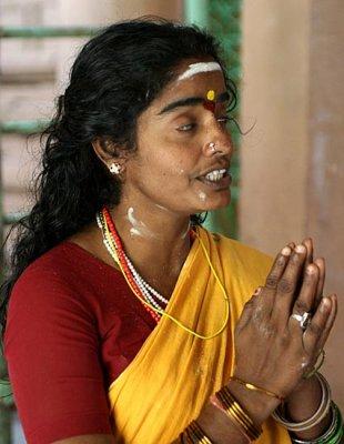Devotee at Punnai Nallur Mariamman temple near Thanjavur, Tamil Nadu. http://www.blurb.com/books/3782738