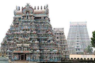 Ranganatha temple in Srirangam, Tamil Nadu.