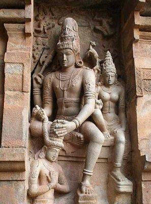 Sculpture at Brihadisvara temple in Gangaikonda Cholapuram, Tamil Nadu.